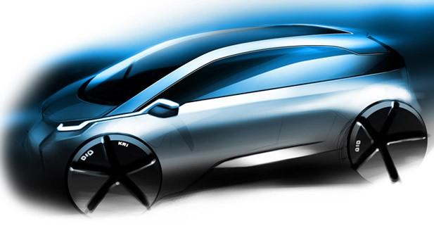 i3 et i8 : les futurs mod�les �lectrifi�s de BMW pour 2013