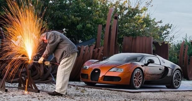 Bugatti Veyron 16.4 Grand Sport Venet : Art numérique
