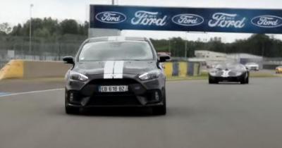 L'acteur Pio Marmaï et Olivier Pla à l'assaut du Mans en Ford Focus RS