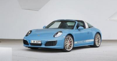 Porsche 911 Targa 4S Exclusive Design Edition: la belle bleue