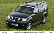 Le Nissan Pathfinder élu 4x4 de l'année 2006