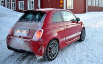 Essai Abarth 500 EsseEsse en Laponie : du scorpion surgelé au menu !