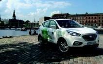 Hyundai livre 15 ix35 à hydrogène à Copenhague