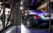 La Rolls-Royce Wraith en vitrine à Londres