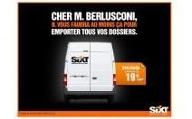 Sixt s'amuse des malheurs de Silvio Berlusconi
