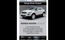 Une application iPhone pour le Range Evoque