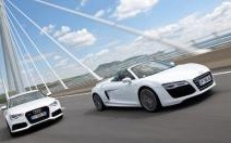 Rencontre Audi RS6 Avant / R8 V10 Spyder S tronic : Duel de titans