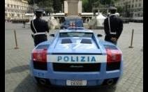 Une Gallardo de la police de Rome en vidéo