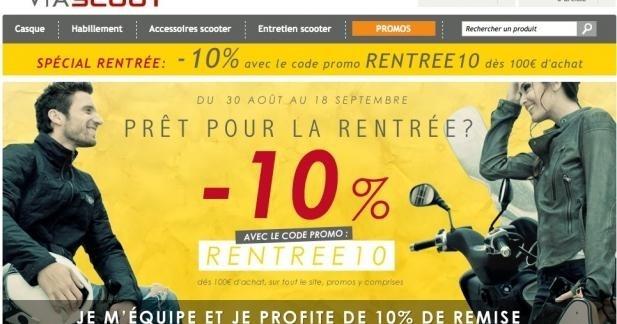 10% de remise pour la rentrée chez Viascoot.com