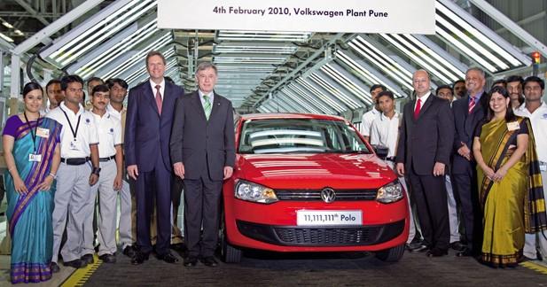 Volkswagen : la Polo numéro 11 111 111 produite en Inde