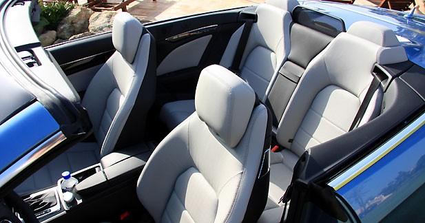 essai mercedes classe e cabriolet 250 cdi sans froid ni. Black Bedroom Furniture Sets. Home Design Ideas