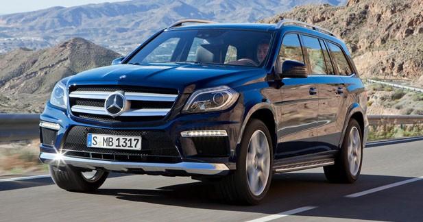 Le Mercedes GL restylé démarre à 74 900 euros