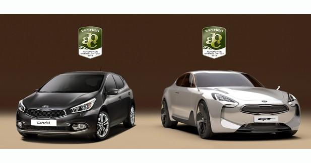 Kia remporte 3 prix du design à l'Automotive Brand Contest 2012