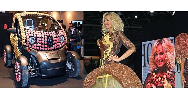 Un Renault Twizy recouvert de macarons au Salon du Chocolat