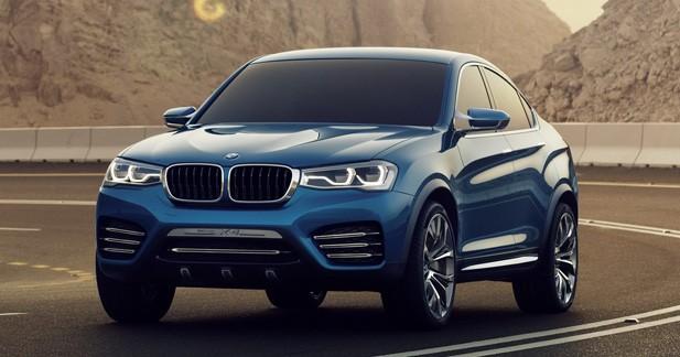 BMW X4 Concept : nouvelles photos avant Shanghai
