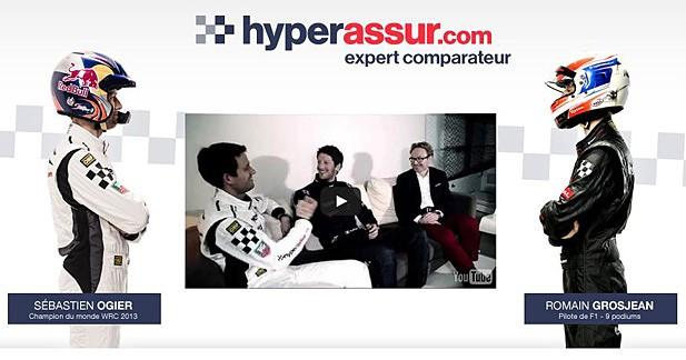 Un défi sur circuit entre Grosjean et Ogier avec Hyperassur