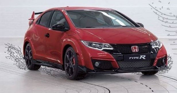 la nouvelle honda civic type r en avance. Black Bedroom Furniture Sets. Home Design Ideas