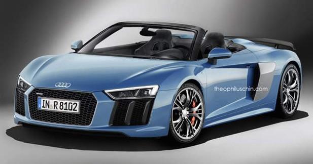Le style de la prochaine Audi R8 V10 Plus Spyder