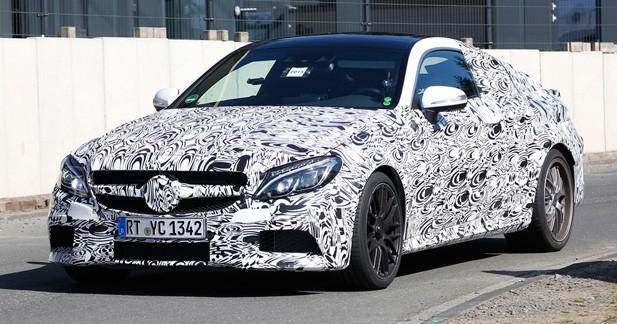 Spyshots : Mercedes C63 AMG Coupé