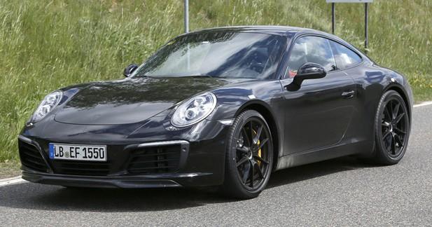 Spyshots: Porsche profite du restylage de la 911 pour préparer l'arrivée des moteurs turbo