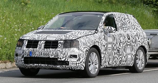 Spyshots : la seconde génération du Volkswagen Tiguan avance masquée
