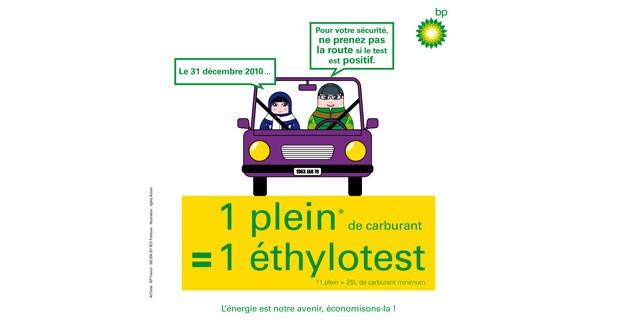 Ethylotest gratuit chez BP pour le 31 décembre