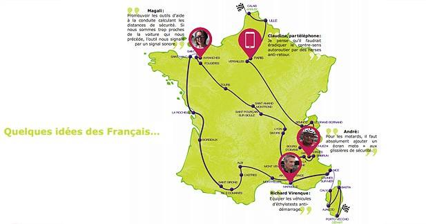 Sécurité routière : Les Français soumettent leurs idées