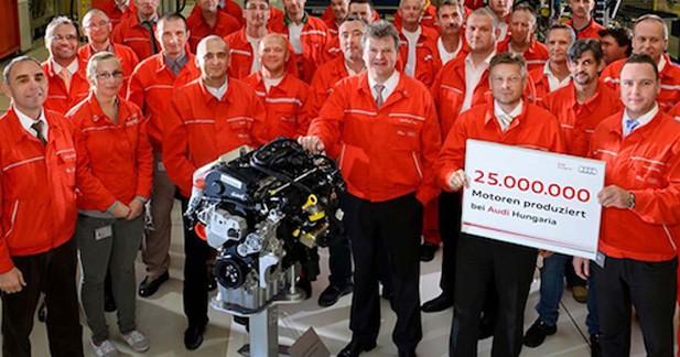Audi a produit 25 millions de moteurs en Hongrie