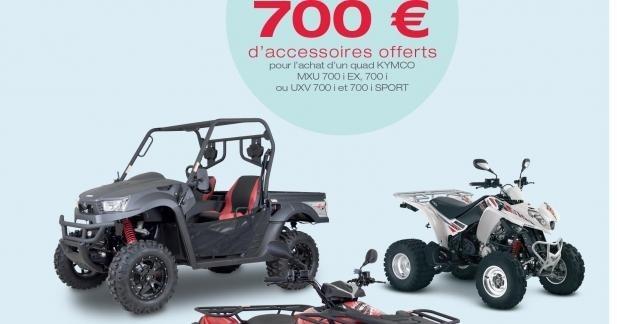 Promo accessoires chez Kymco : 1€ offert par cm3 !