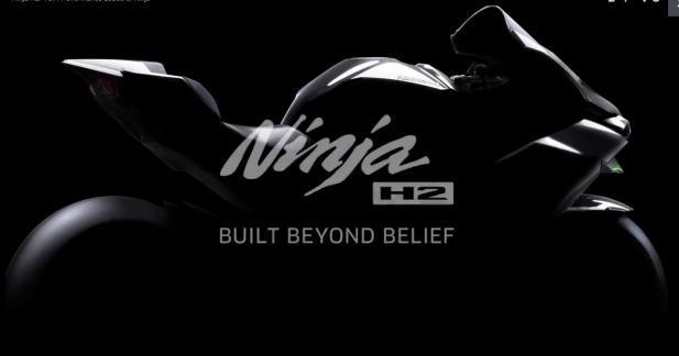 Kawasaki Ninja H2, teasing 3 : première photo...