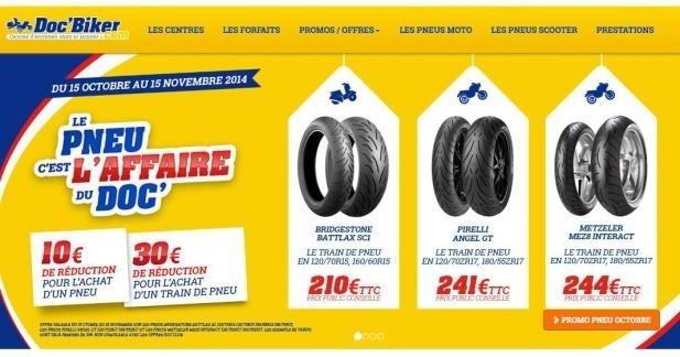 Promo pneus chez Doc'Biker jusqu'au 20 novembre