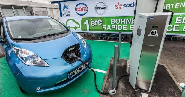 Renault et Nissan vont installer des bornes de recharge rapides