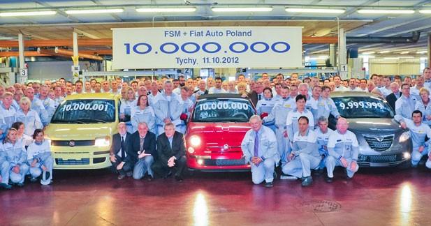 10 millions de véhicules produits en Pologne par Fiat