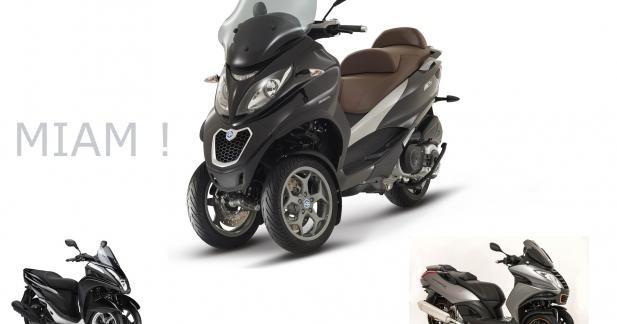 Piaggio accuse Peugeot et Yamaha d'avoir copié son 3-roues