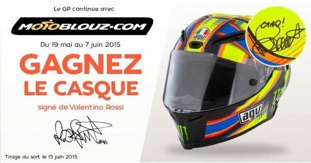 Gagnez un casque signé par Rossi avec Motoblouz !