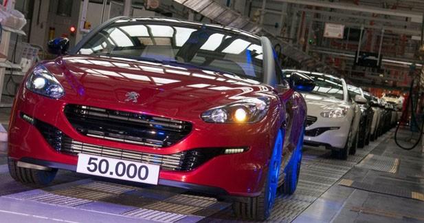Peugeot célèbre le 50 000e RCZ