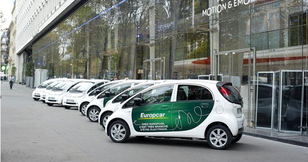 Peugeot livre ses premières Ion à Europcar