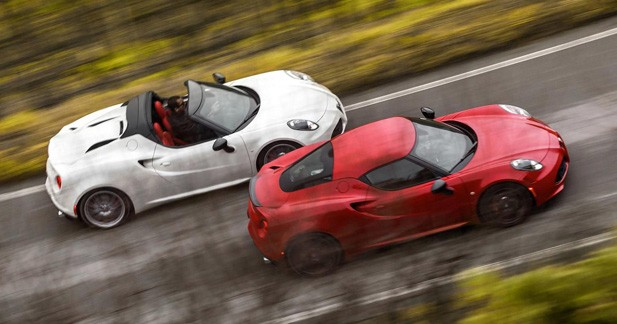 Detroit 2015 : l'Alfa Romeo 4C Spider dans sa version définitive