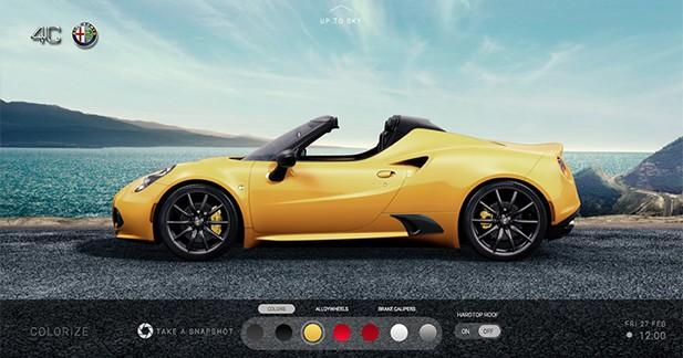 Alfa Romeo lance un site internet dédié à la 4C Spider