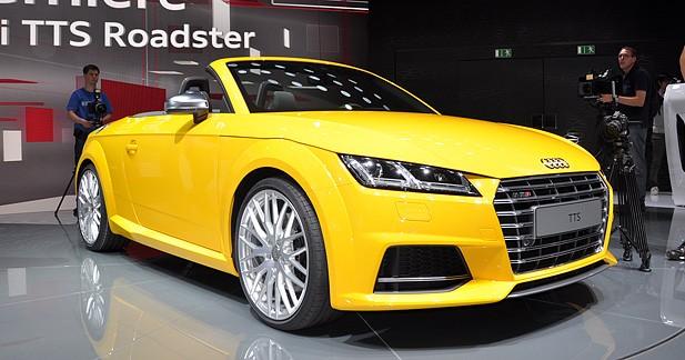 Mondial Auto 2014 : Audi TT et TTS Roadster, cabriolets nouvelle génération