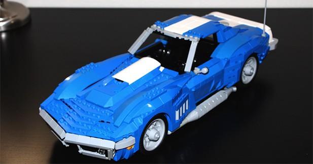 Une Corvette de 1969 entièrement construite en Lego !