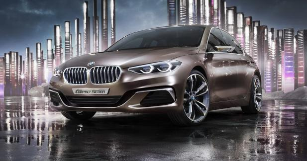 BMW Compact Sedan Concept: la Série 1 Berline en filigrane