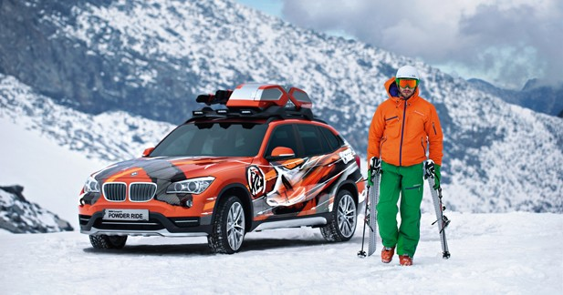 le bmw x1 en tenue de ski au salon de los angeles. Black Bedroom Furniture Sets. Home Design Ideas