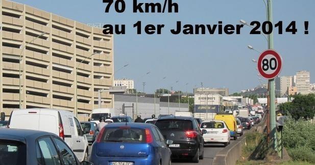 Bonne année 2014 : Le Periph à 70 km/h dès le 1er janvier !