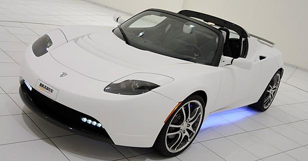 Brabus Tesla Roadster : élexcentrique !