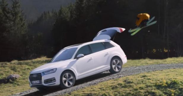 Réception parfaite dans un Audi Q7 pour Candide Thovex