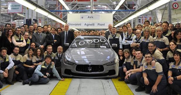 10.000 Maserati produites à l'usine de Grugliasco