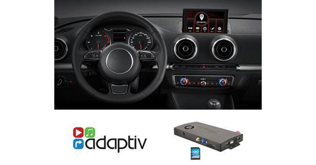 adaptiv propose un module pour ajouter le multim dia l autoradio d origine d une audi a3. Black Bedroom Furniture Sets. Home Design Ideas