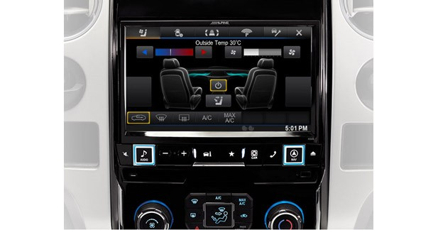 L'écran du X009-FD2 reprend les fonctions d'origine comme l'affichage de la clim