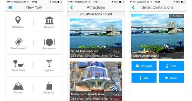 Une application pour trouver des infos détaillées sur une ville et ses centres d'intérêts